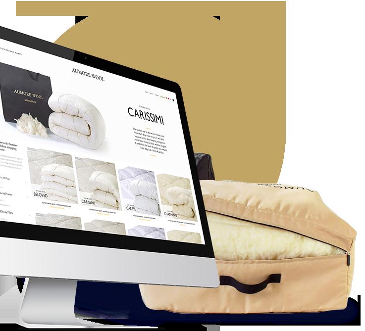 Aumore Wool Website & Branding
